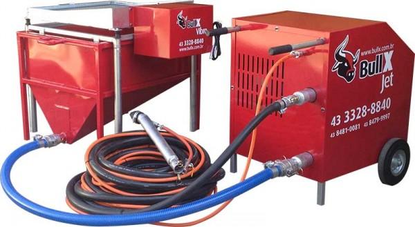 BullX JET - A máquina de chapisco e reboco. Projetora de argamassa